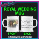 PRINCE WILLIAM KATE MIDDLETON  WEDDING ENGAGEMENT MUG